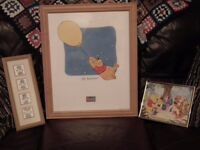 Bundle of 3 nursery pics - Winnie The Pooh & Tatty Teddy