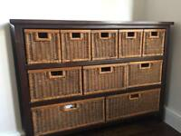 Side unit of drawers and matching coffee table