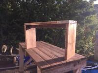 Scaffold board bench.