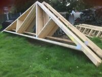 Timber Roof Trusses x 22 Unused 30 degree pitch6950mm