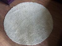 NEXT Circular Natural cream pure new wool rug 150cm diameter