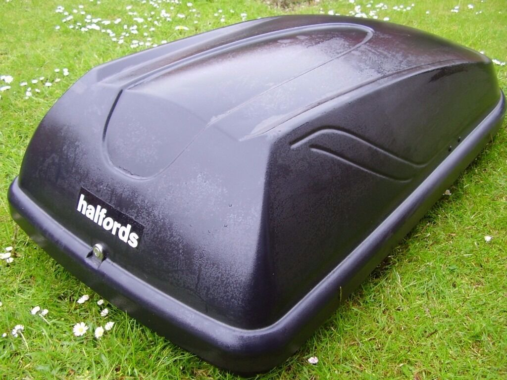 halfords 250l roof box with keys fitting kit and. Black Bedroom Furniture Sets. Home Design Ideas