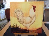 Cockerel canvas