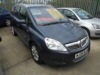 VAUXHALL ZAFIRA 1.6 BREEZE 5DR 2008 7 SEATER MPV 68,000 MILES 12 MONTHS MOT ON PURCHASE,ALLOY WHEELS