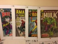Spiderman, Hulk, Iron man & Batman - set of 4 Wall Art Prints / Posters - NEW & SEALED