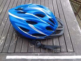 NEW adult bike helmet with removable visor £6