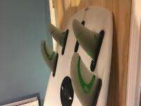 5'8 quad Shortboard surfboard, Agency