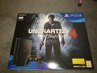 Sony playstation ps4 jet black sealed brand new ps vr ready bnib 500gb + uncharted 4