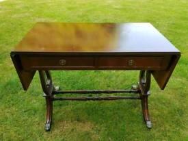 Vintage mahogany reproduction sofa table