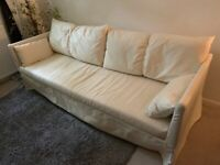 GREAT DEAL IKEA SANDBACKEN Fabric Sofa 3 Seater with Cushions and Covers