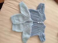 Newborn knitted cardigans