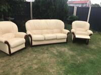 Rossini Italian leather sofa suite recliner chair can deliver today