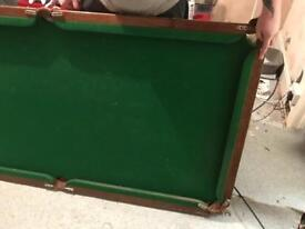 6*3 slate bed snooker/pool table.