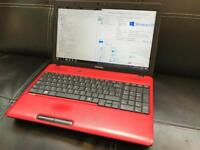 Toshiba Red Laptop