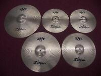 """DRUMS , Cymbals Zildjian ZHT Cymbal Pack – 14"""" Hi-Hat , 16"""" Crash , 16"""" China , 20"""" Ride + Gig Bag."""