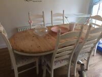 Shabby chic extending dinning table