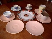 Vintage cups and plates