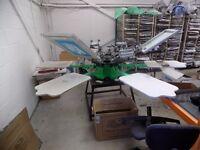 Ryonet Screen Printer £4000, Tunnel Dryer £2500, Flash Dryer £500 Printing Garments Clothing