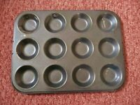 Lakeland My Kitchen 12 Hole Shallow Bun Tin / Mince Pie / Jam Tart / Fairy Cake Tray Baking Bakeware