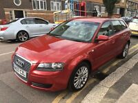 AUDI A3 1.9 TDI SPORTBACK 2007 1 FORMER OWNER FULL AUDI HISTORY FULL LEATHER NEW MOT+SERVICE BY AUDI