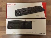 6 x Brand New Sealed Microsoft Wired Keyboard 200 - UK Layout
