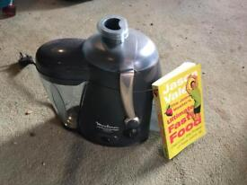 Moulinex juicer and book. FREE!