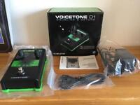 TC Helicon Voicetone D1 Doubling and Detune vocal effect pedal