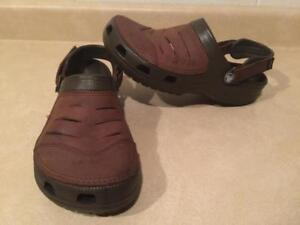 16f05f68b Mens Size 9 Crocs Brown Bogota Clog Sandals