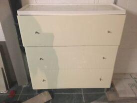 Ikea white gloss chest drawers FREE