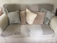 Sofa with optional matching footstool