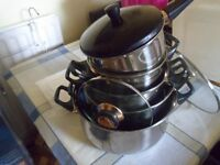 STAINLESS STEEL COOKING PANS 5 (NEW)