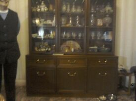 Teak Wood Display Cabinet/Living Room Unit
