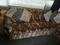 Caravan sofa with pull out bed