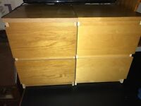 Bedside Cabinets In Very Good Condition Used