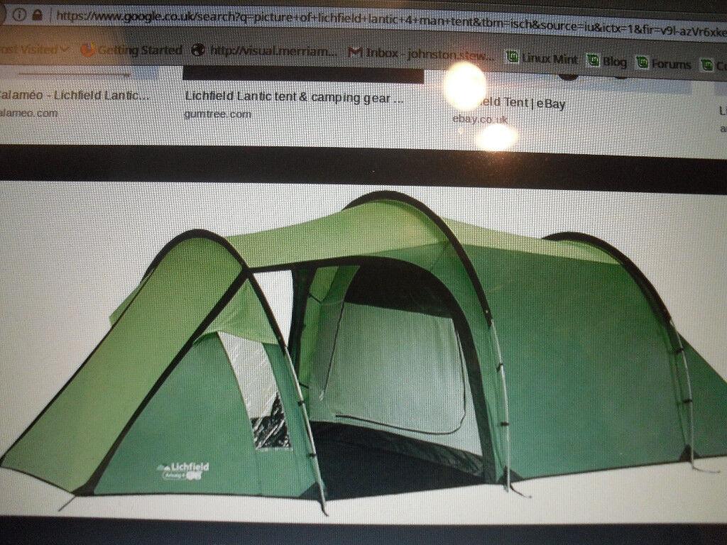Lichfield Lantic 4 man tent | in Stenhousemuir, Falkirk | Gumtree