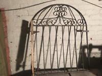 arched metal garden gate £15