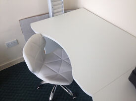 Free Large Desk with Curved Front