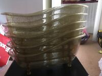 Gold plastic baths (could be used for storage