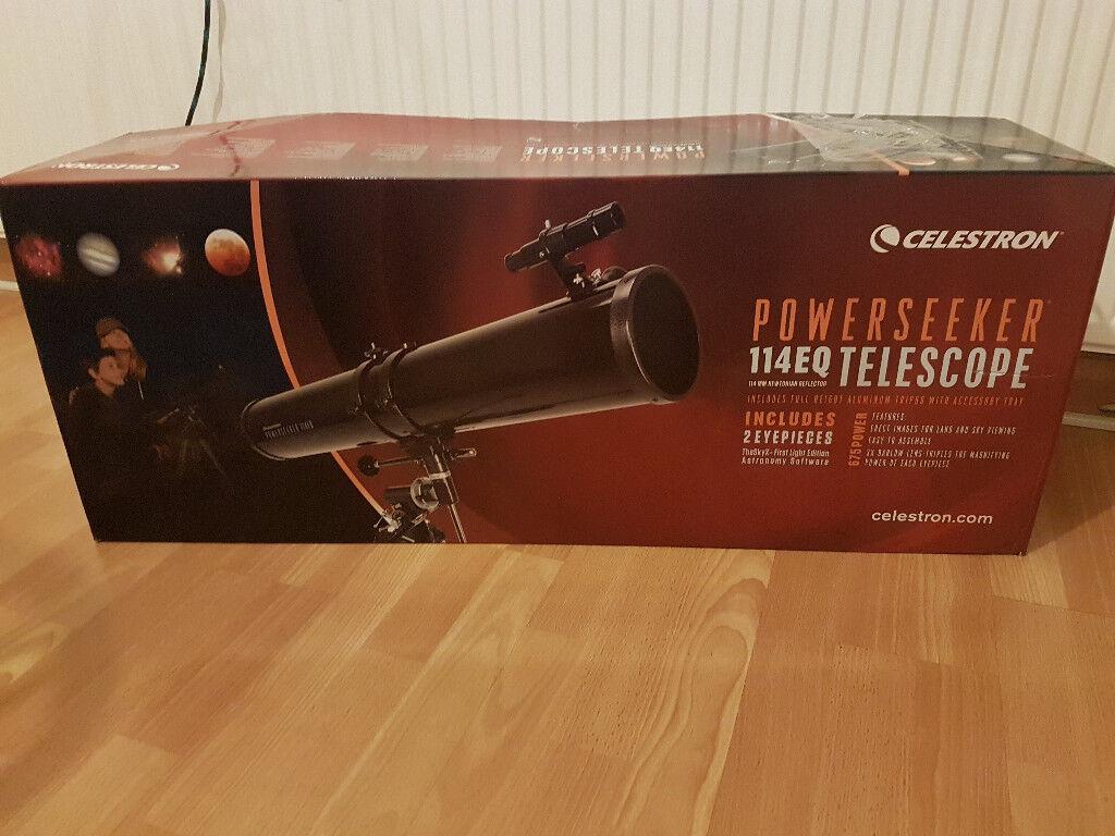 Celestron powerseeker 114eq reflector telescope in east london