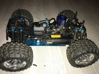 Rc nitro truck with extras