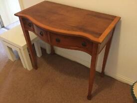 Yew antique table