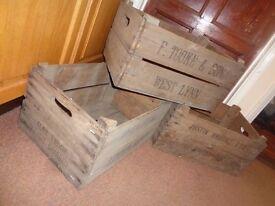 20 Twenty Single Vintage Wooden Rustic Bushel Crates Boxes Storage Apple Pears Fruit English