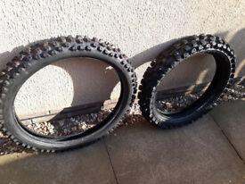 Front & rear Bridgestone MX tyres