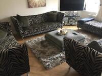 Suite, set of luxury leopard sofas