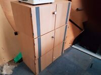 Office 2 door storage cabinets 3 available at 30 pounds each