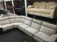 New/Ex Display Large LazyBoy Recliner Group Sofa (left or right side Corner)