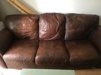 3 Seater Leather Sofa Good Condition