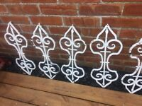 "Set Of 9 Original Wrought Iron Balusters/ Balustrade Archetectural Salvage 30""- delivery available"