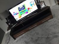TV unit brown & black