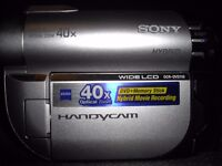 Sony Dvd Camcorder and all accessories. Excellent condition.